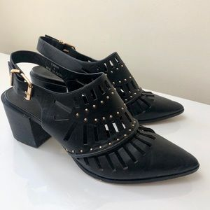 ASOS Western Studded Ankle Booties Size 6
